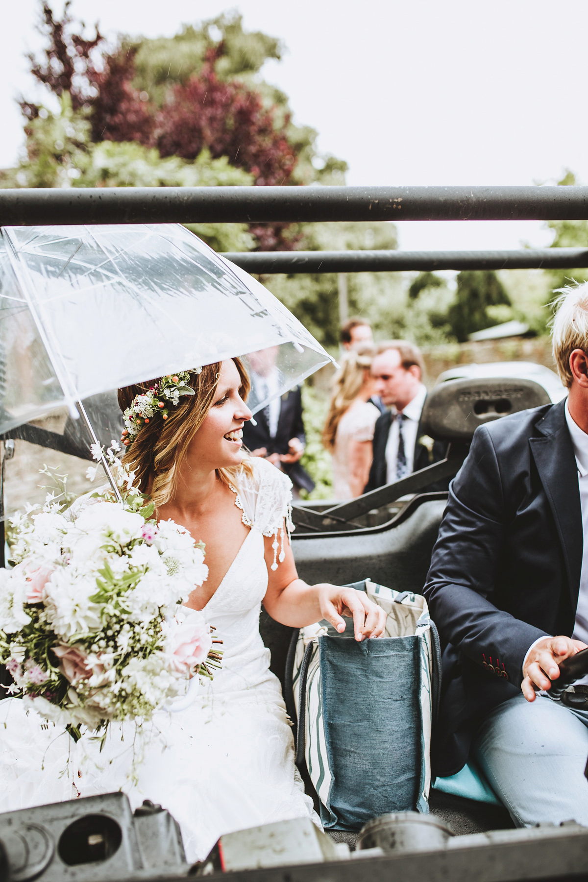 A Claire Pettibone Gown for a Charming and Fun-filled Rural Village Wedding (Weddings )