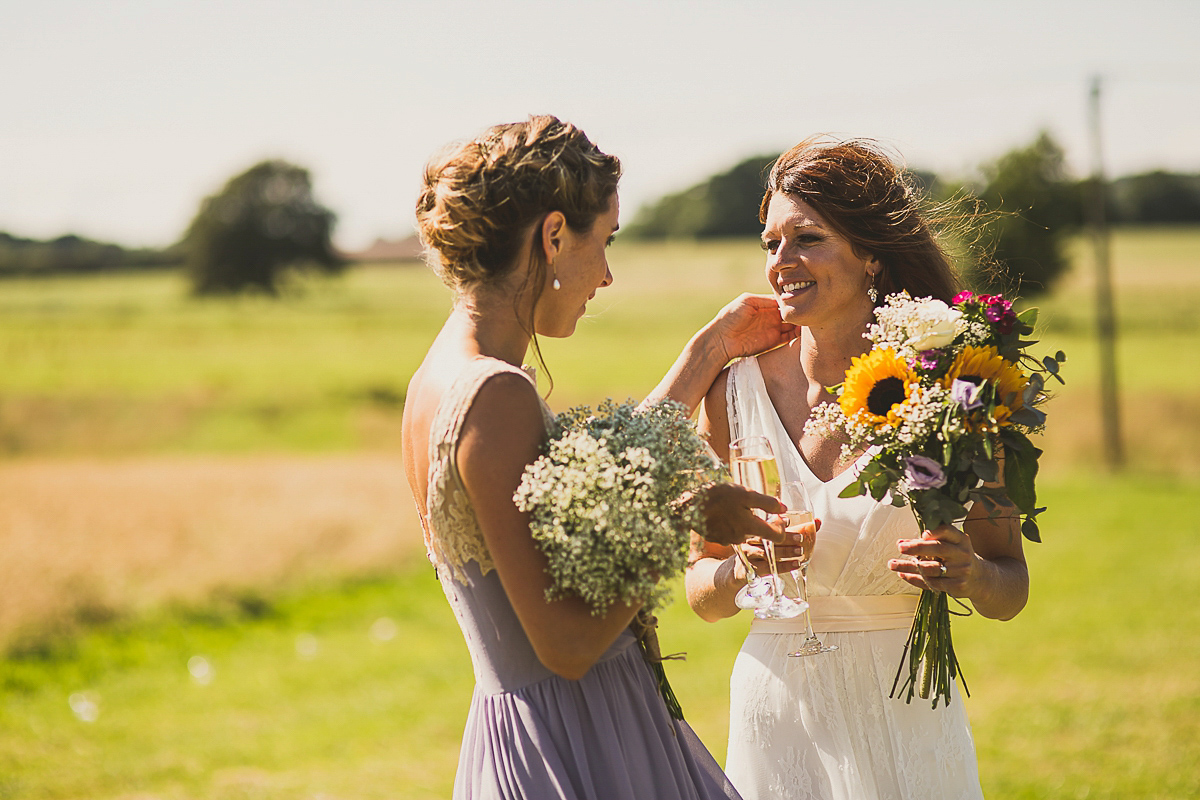 Sunflowers, Sunshine and Charlie Brear Elegance for a Fun, Party Style Wedding