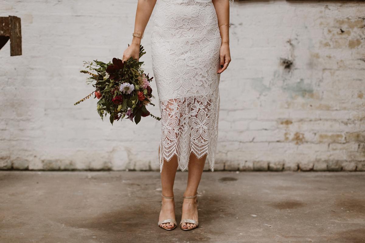 A for love lemons dress for a modern warehouse wedding for Tk maxx dresses for weddings