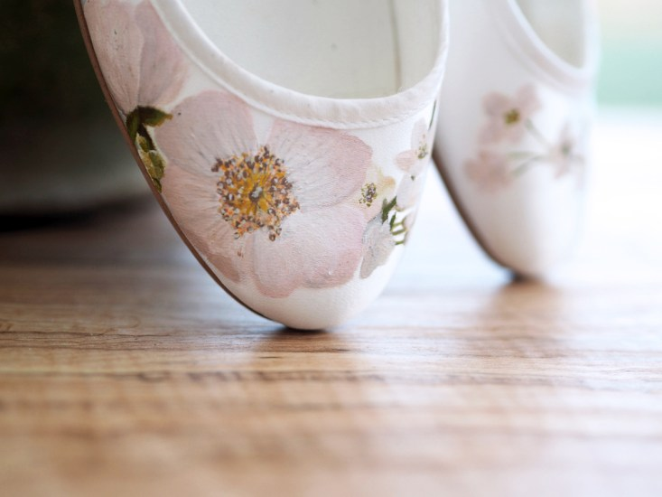 Hand-Painted Wedding Shoes by Elizabeth & Rose (Bridal Fashion Fashion & Beauty Get Inspired Supplier Spotlight )