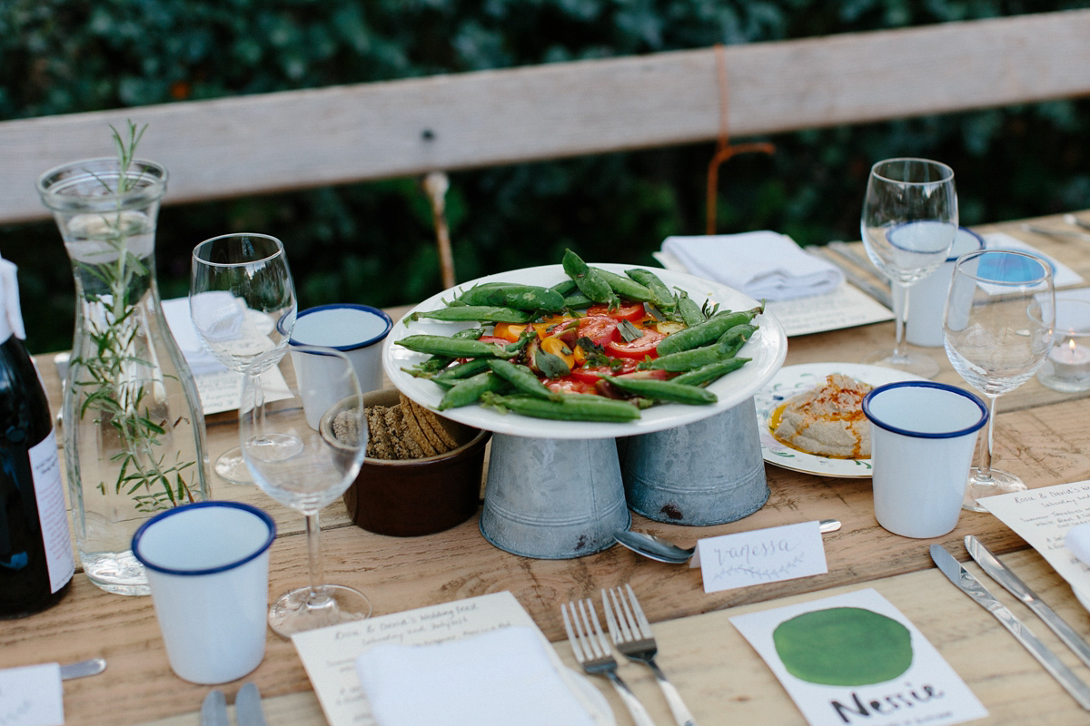 An Eco Dress and Swedish Hasbeens For a Secret Herb Garden Wedding and Vegetarian Feast (Weddings )