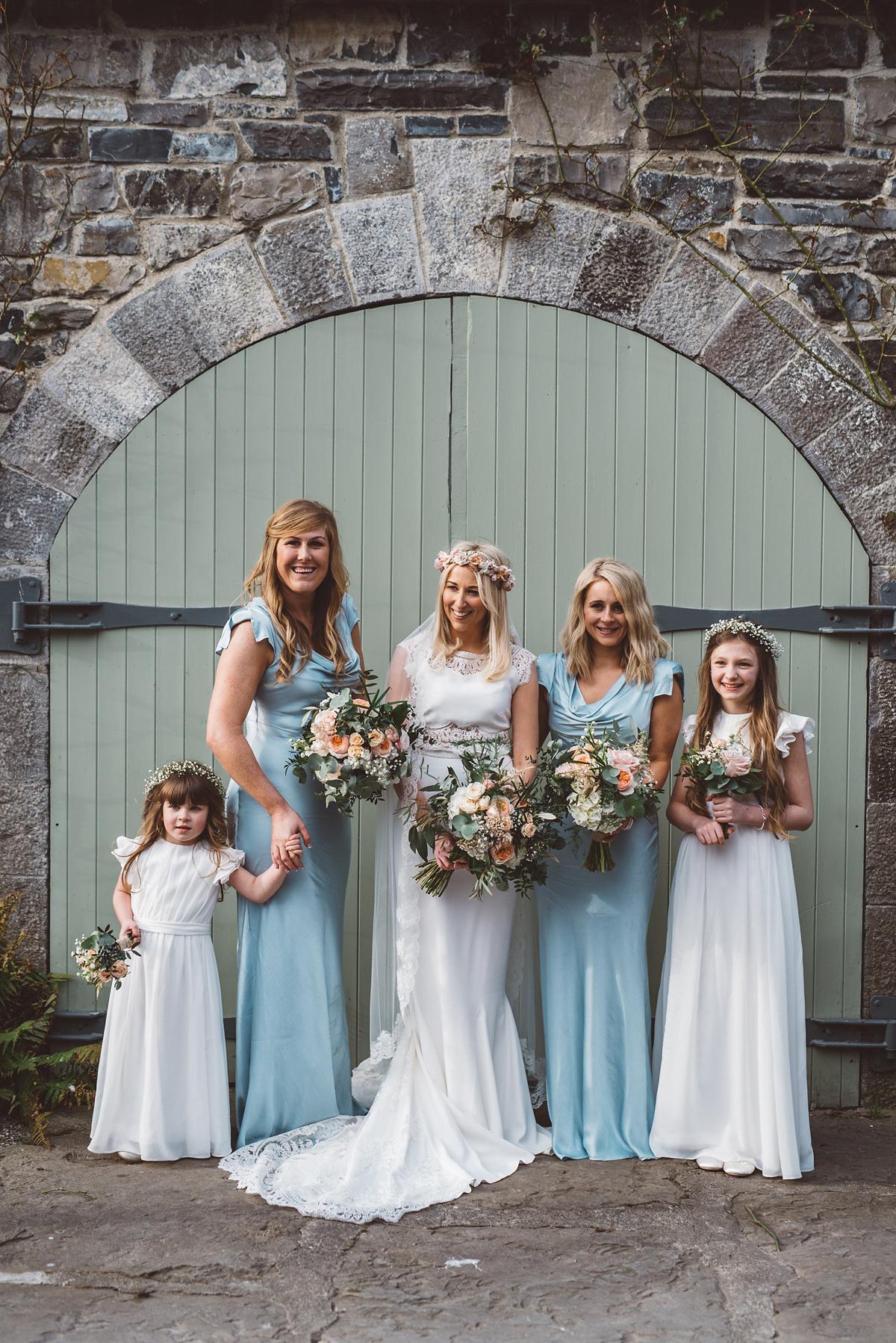 Bride Heidi wears Rime Arodaky separates for her French wedding in Ireland. Kat Mervyn Photography.
