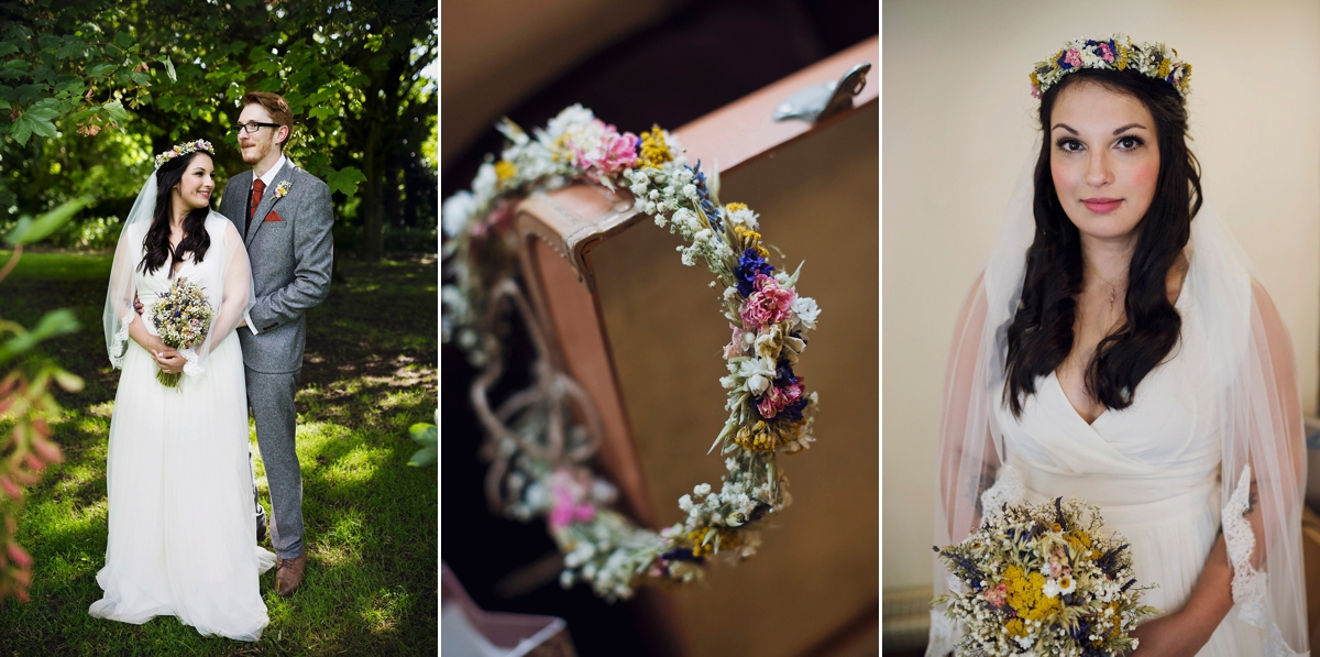 An ASOS Wedding Dress and Comic Book Confetti for a Handmade Village Hall Wedding