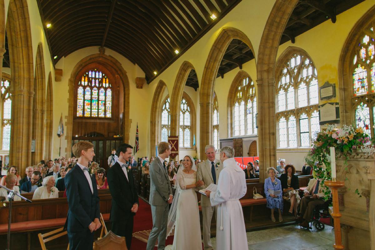 Laure De Sagazan Elegance for a Colourful and Fun Somerset Farm Wedding (Weddings )