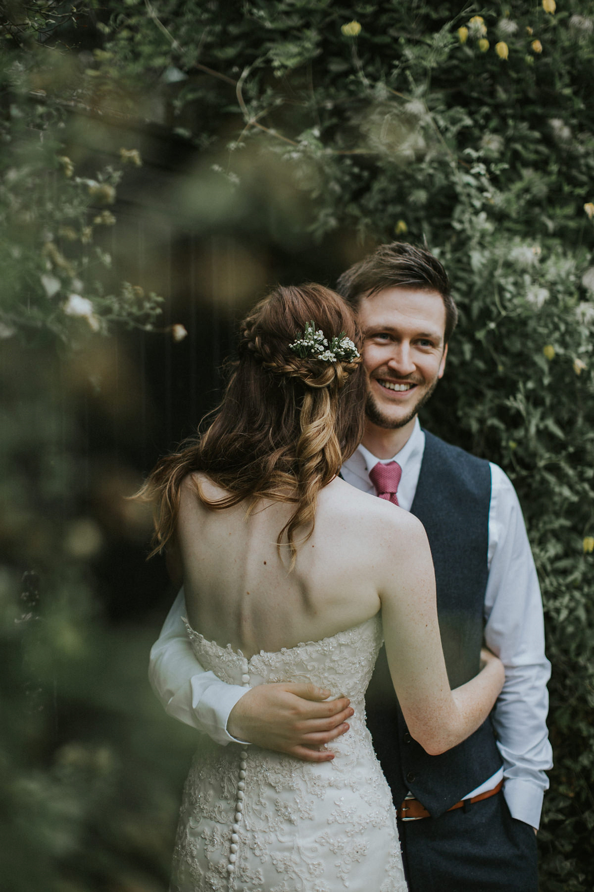 Maggie Sottero for a Fairylight Filled, Rustic and Natural Barn Wedding (Weddings )