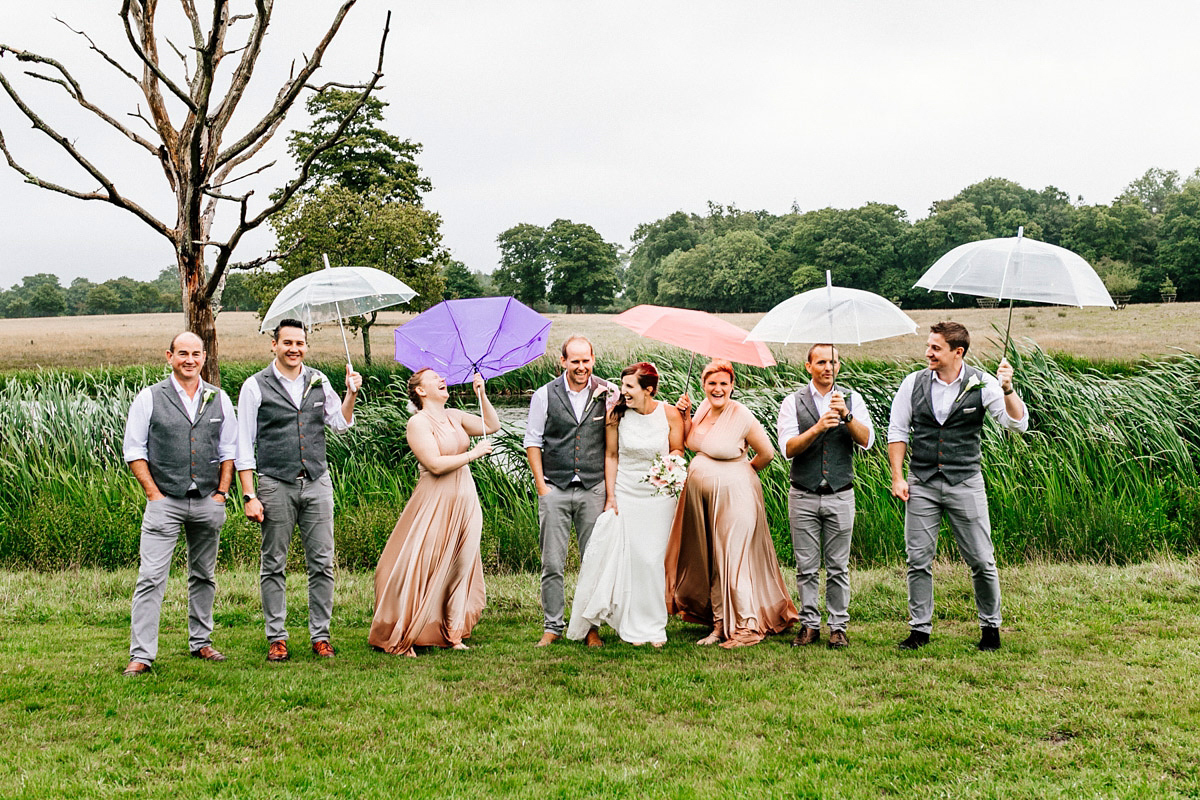 A Laidback and Lovely Rainy Day Wedding