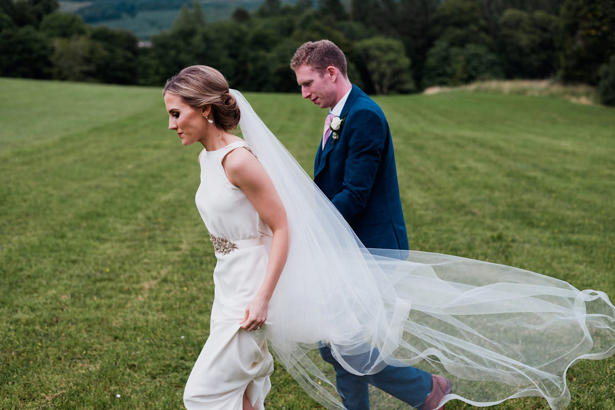 A Wilden Bride Gown for a Blush And Gold Irish Castle Wedding