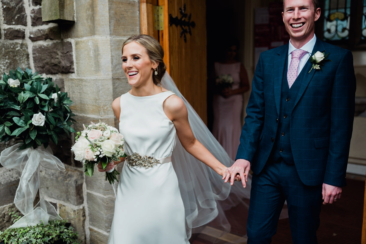 A Wilden Bride Gown for a Blush And Gold Irish Castle Wedding (Weddings )