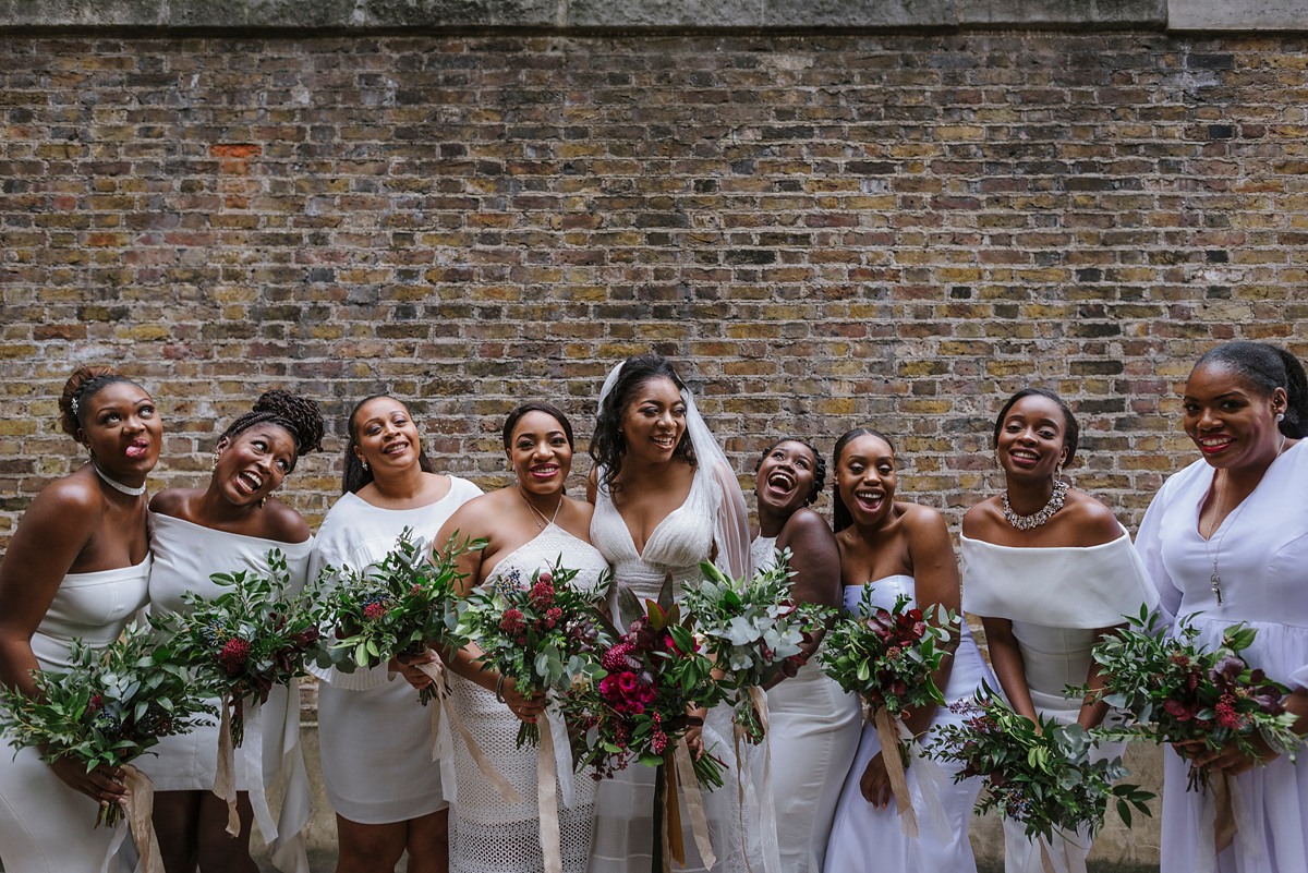 A YolanCris gown for a Glamorous, West African Inspired City Wedding