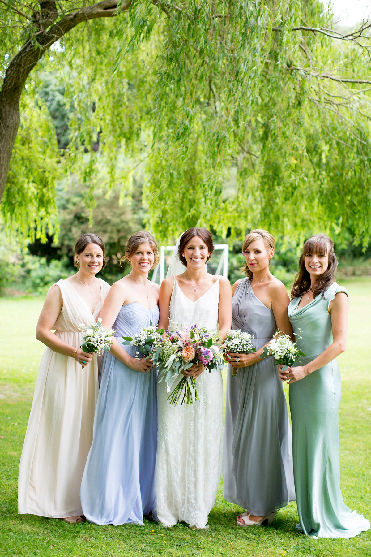 A Nature Inspired Wedding with a Limor Rosen Dress and Bridesmaids in Pastel Gowns