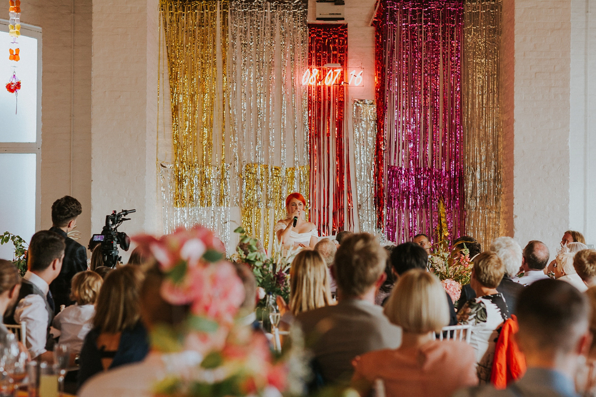 A Sequin Veil for a Fabulously Colourful and Quirky Wedding (Weddings )