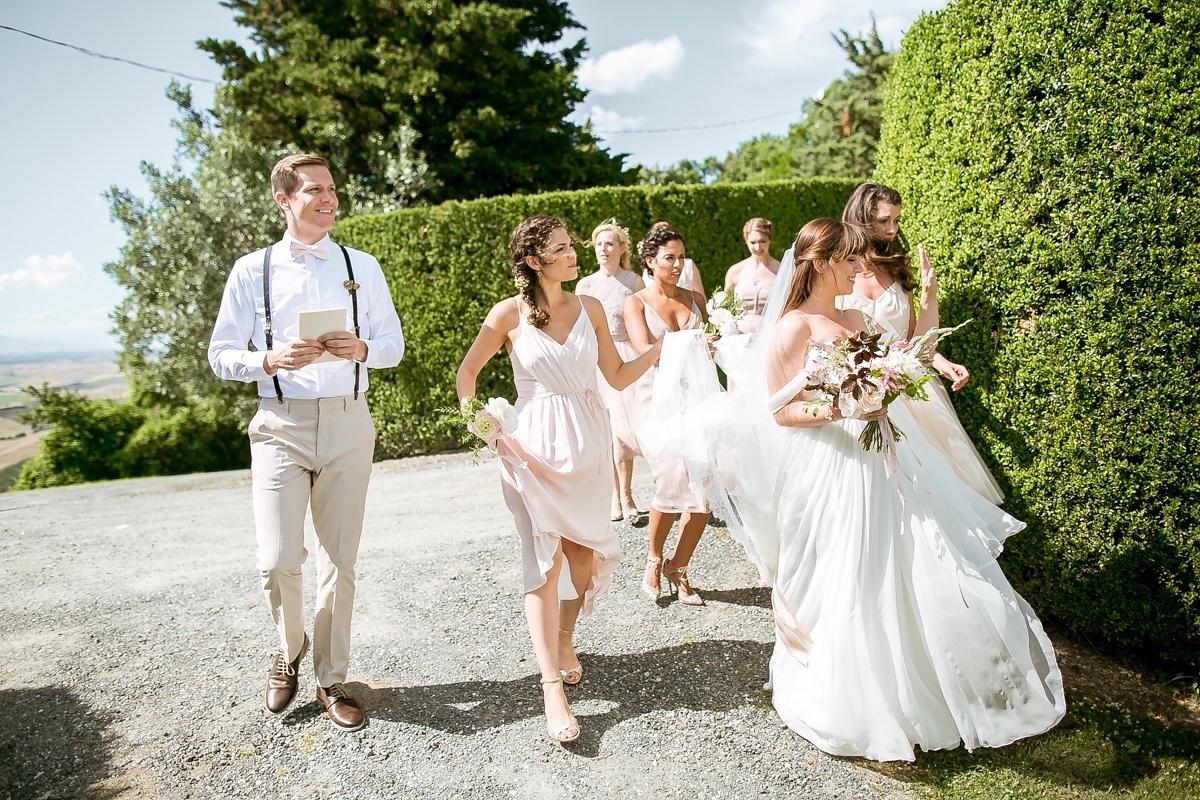 A Sarah Seven Dress for an Elegant Italian Countryside