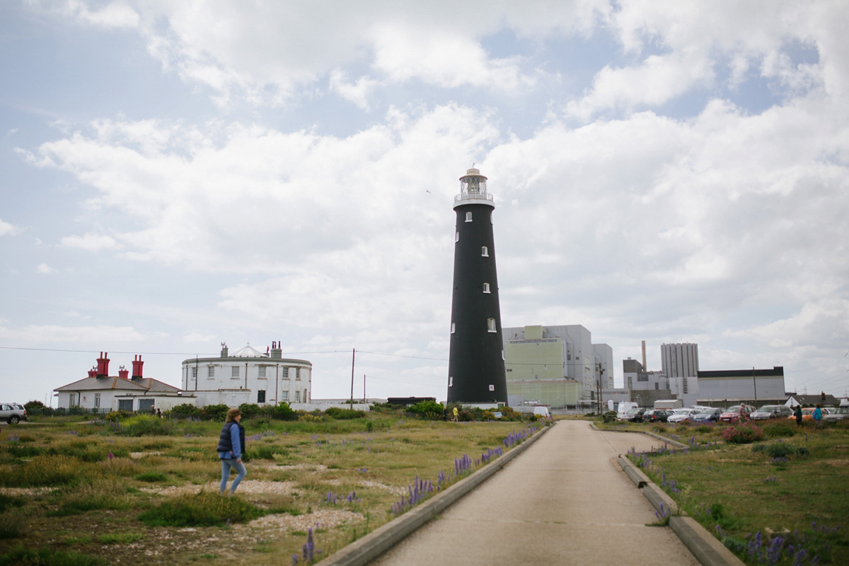 An Ethical and Reclaimed Dress for a Kent Lighthouse Wedding (Weddings )