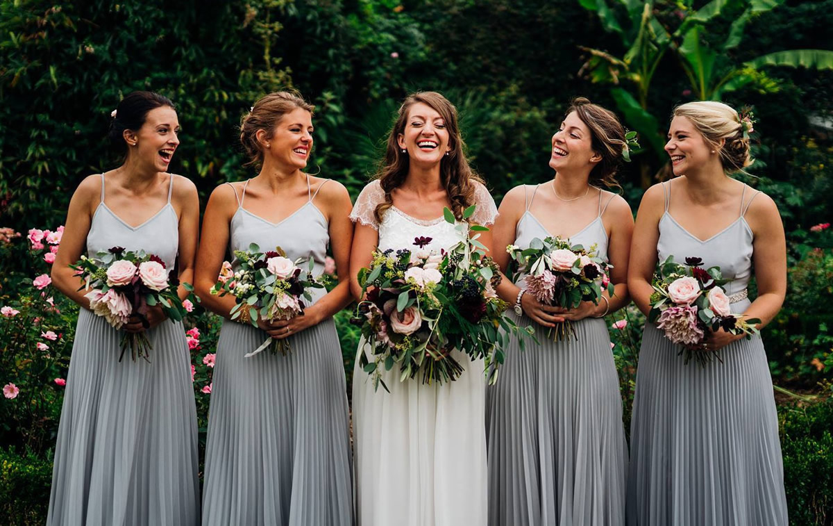Grace Loves Lace and Bridesmaids in Pale Grey