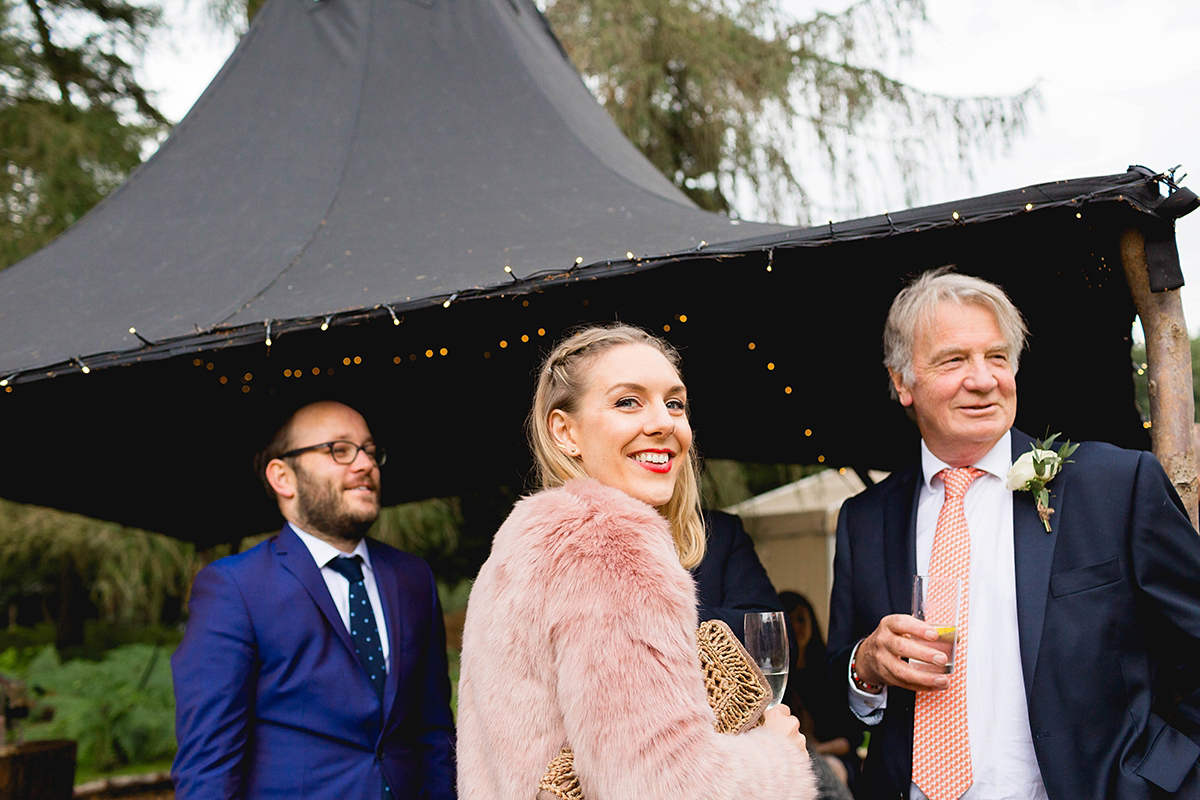 A Blush Pink Dress for a Charming and Rustic Woodland Inspired Wedding (Weddings )