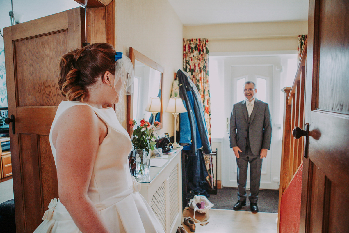 Pronovias Elegance and a Birdcage Veil For A Bright and Colourful Yorkshire Wedding (Weddings )