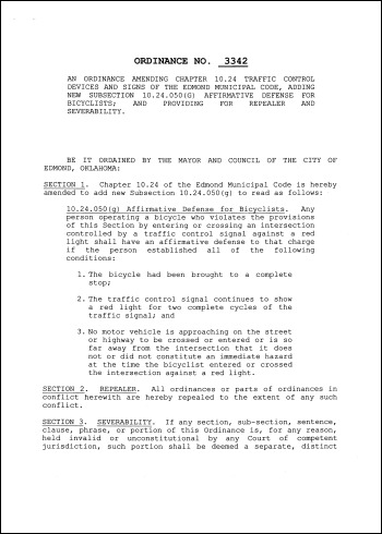 Affirmative Defense Ordinance Page 1