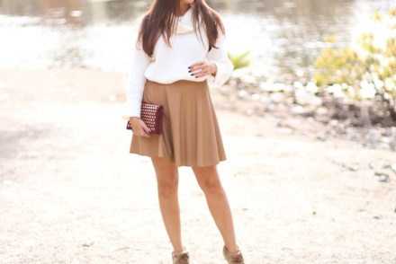 faux-leather-brown-skirt