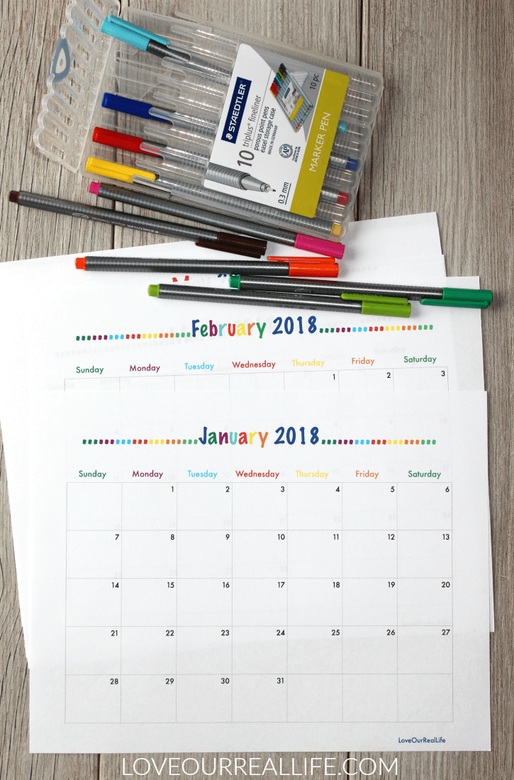 2018 Free Printable Monthly Calendars and My New Bullet Journal ...