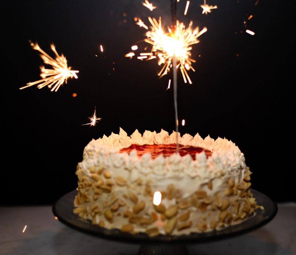 pb and j cake sparkler