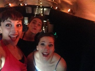 Silly Selfie of MMT Project Manager Blaze Gonzalez, Dancer Amanda Edwards, and Choreographer Brigette Cormier before the first performance.