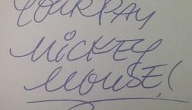 Mickey autograph