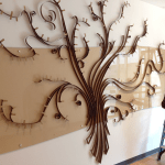 The Donor Tree Branches have been installed in the Northside library branch!