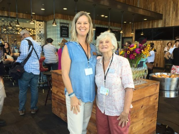 Executive Director Tracy Wingrove and Board Member Emeritus Nancy Toledo pose for a photo at the new Whole Foods Market Preview Party.