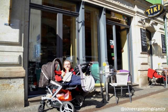 Neustadt, Dresden, Germany, Lovetravelling family first ice cream