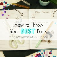 How to Throw Your Best Party: Invitation