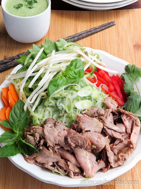 Thai Beef Salad Noodle Bowls with Miracle Noodles are a delicious low ...