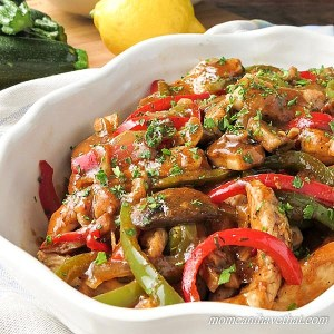 This Sherry Chicken Saute with Mushrooms & Peppers is my low carb ...