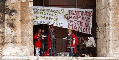 gladiators protest in Rome