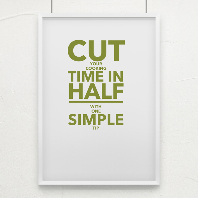 cut time in half