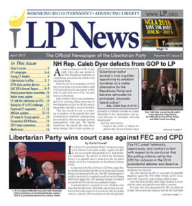 Color image of front page of LP News April 2017 issue