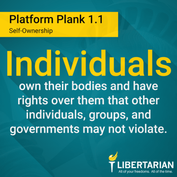 Individuals own their bodies and have rights over them that other individuals, groups, and governments may not violate.