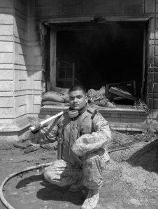 Iraq Ramadi 2005 after rocket attack