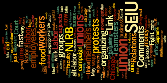 may ink wordle Labor Relations INK, May 2013