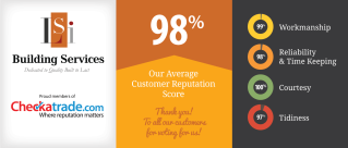 LSI Building Services score 9.8 out of 10 on Checkatrade