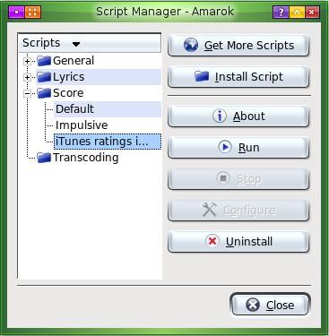 Amarok Script Manager