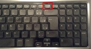 localização do botão prntscr para print screen no teclado