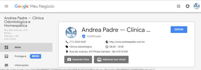 """Clique em """"Editar"""" para detalhar mais a sua empresa."""