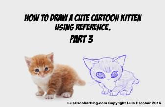 How to draw a cartoon kitten using Ref 03