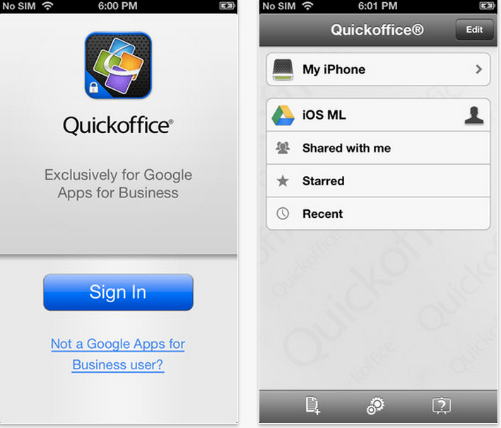 quickoffice gratis iphone