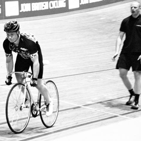 Standing start practice with podiumfitcoach at nationalcyclingcentre after a couplehellip