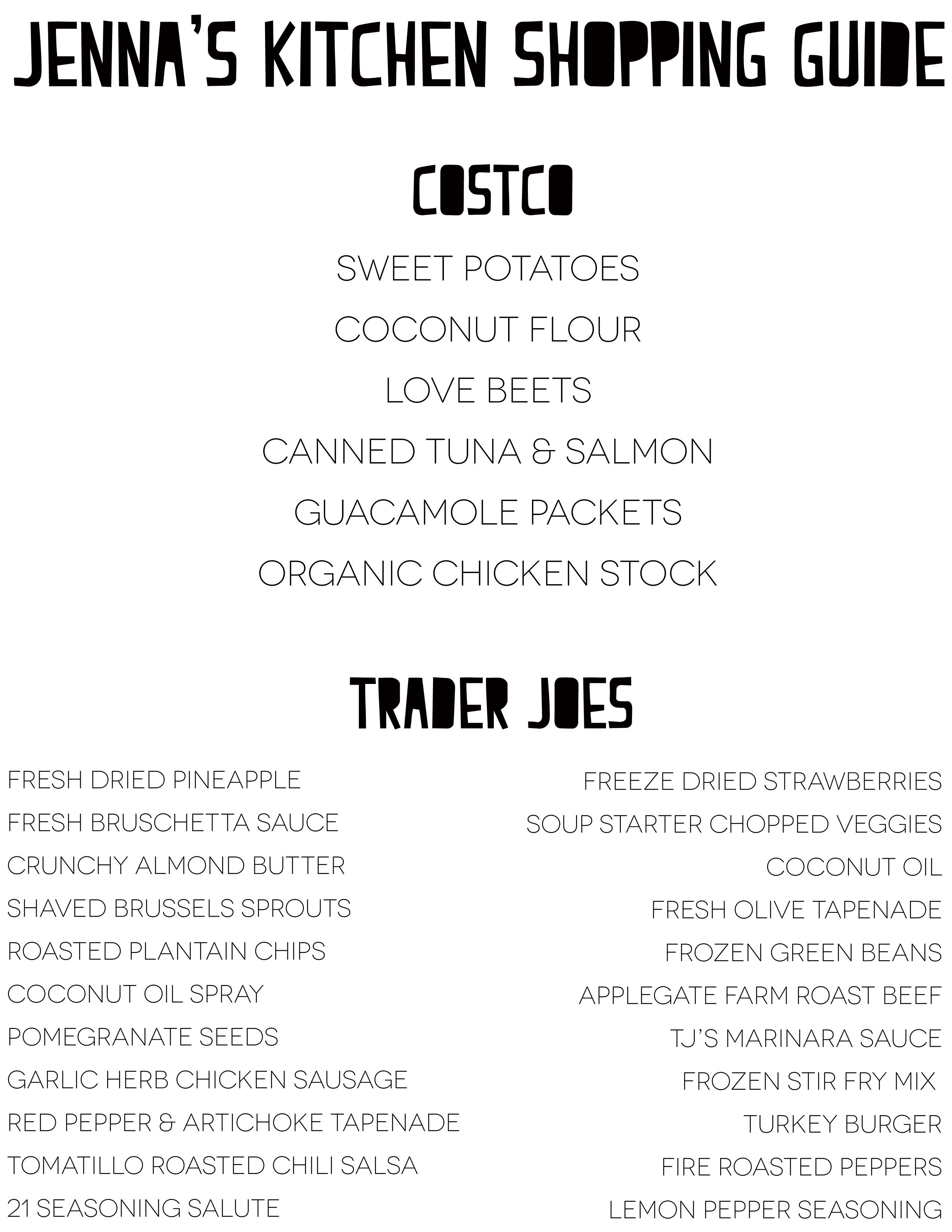 Fullsize Of Costco Shopping List