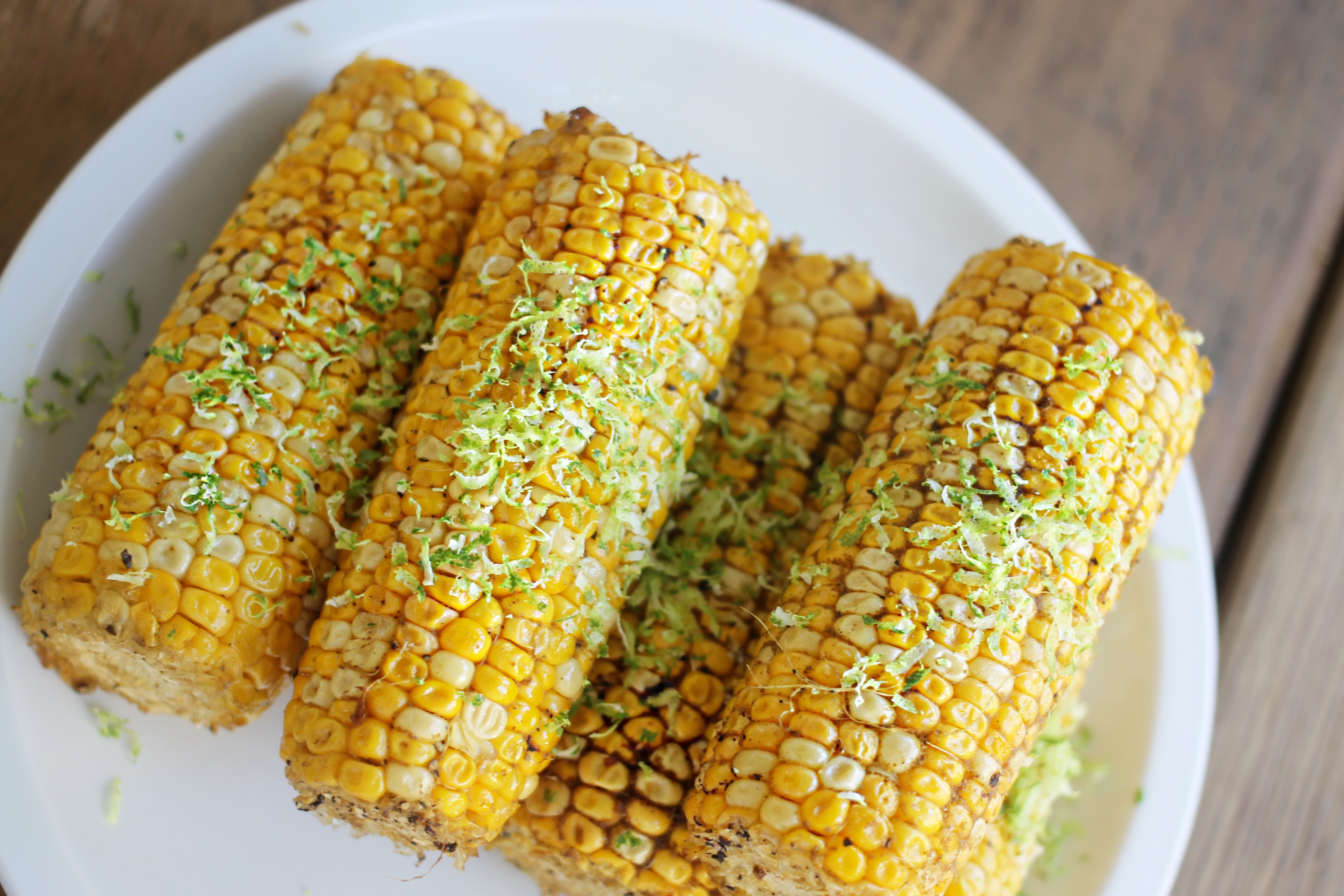 The corn was insanely good and so simple. Olive oil, salt, pepper and ...