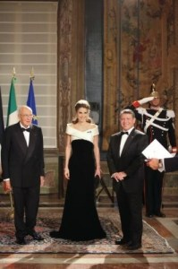 Napolitano e Rania di Giordania in Armani