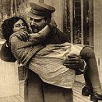 Stalin con la figlia Svetlana