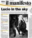 La prima pagina del Manifesto il giorno della scomparsa di Lucio Magri